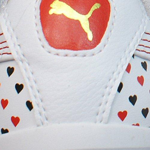 Puma Gv Amour Valentine Femmes En Cuir Baskets / Chaussures - Blanc