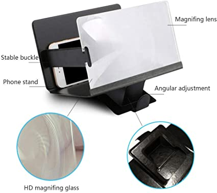 3D Screen Magnifier All Smart Phones LG Nexus Sony Galaxy S9+//S9//S8//S7 DADA 2019 Upgraded Cell Phone HD Screen Enlarger Video Movie Amplifier Holder Stand for iPhone Xs//XR//X//8//8 Plus//7//7 Plus//6S