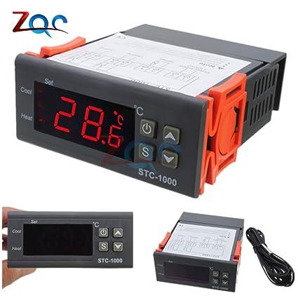 1X 220V // STC- // 1000 Digitaler Temperaturregler Thermostat mit NTC D5K2 me1