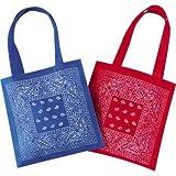 Bandana Print Favor Tote Bag (12 pack)