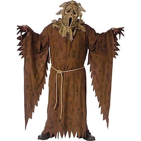 sc 1 st  Amazon.com & Amazon.com: Adult Ghost Face Scarecrow Costume Plus Size: Clothing