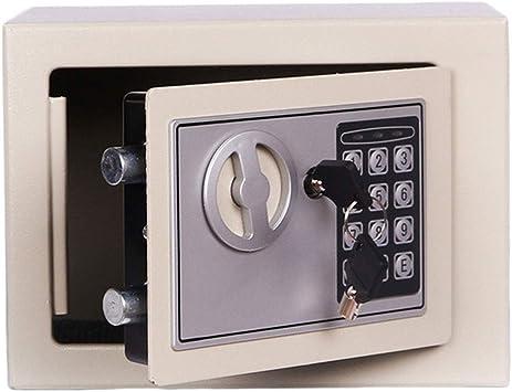 Cajas de Seguridad Caja de Almacenamiento pequeña Código de Seguridad electrónica Funcionamiento con batería Gabinete de Llave Blanco 23 * 17 * 17 Caja de ...