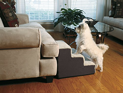 Dog Steps by Cozy Pet | Machine Washable Cover with Non Skid Bottom (19.5 x 14.75 x 15 inches)