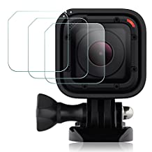 Screen Protector for GoPro Hero4 Hero5 Session, AFUNTA 3 Pack Anti-scratch Water-proof Tempered Glass Hero 4 5 Session Film Accessory