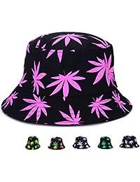 c3ec6daf0a7 Bucket Hat - Marijuana Weed Fishing Hat - Unisex Sun Uv Protection Wide  Brim Flat Sport
