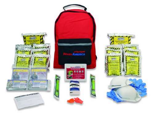 - Ready America 70280 Emergency Kit, 2-Person, 3-Day Backpack