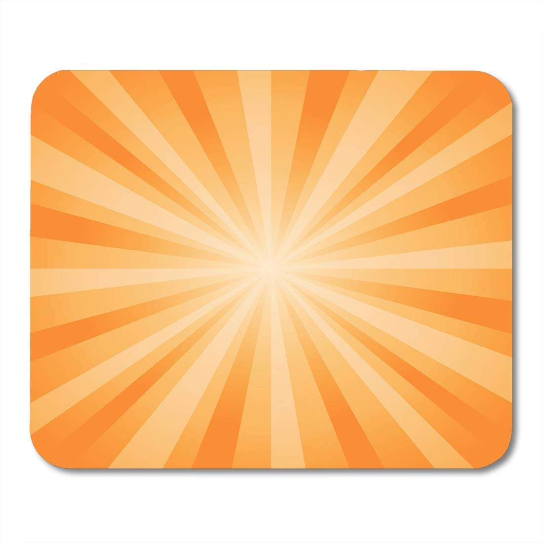Amazon com : Mouse Pads Sunburst White Burst Abstract Orange