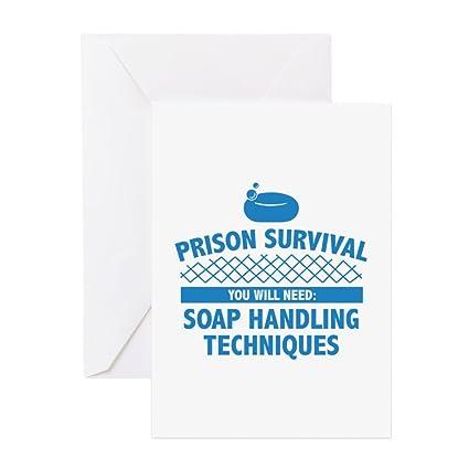Amazon com : CafePress - Prison Survival - Greeting Card