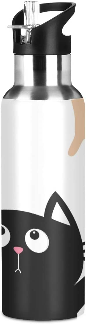 SUABO Sports Water Bottle Vacuum Insulated Stainless Steel Water Bottle for School Father's Gift, 20oz