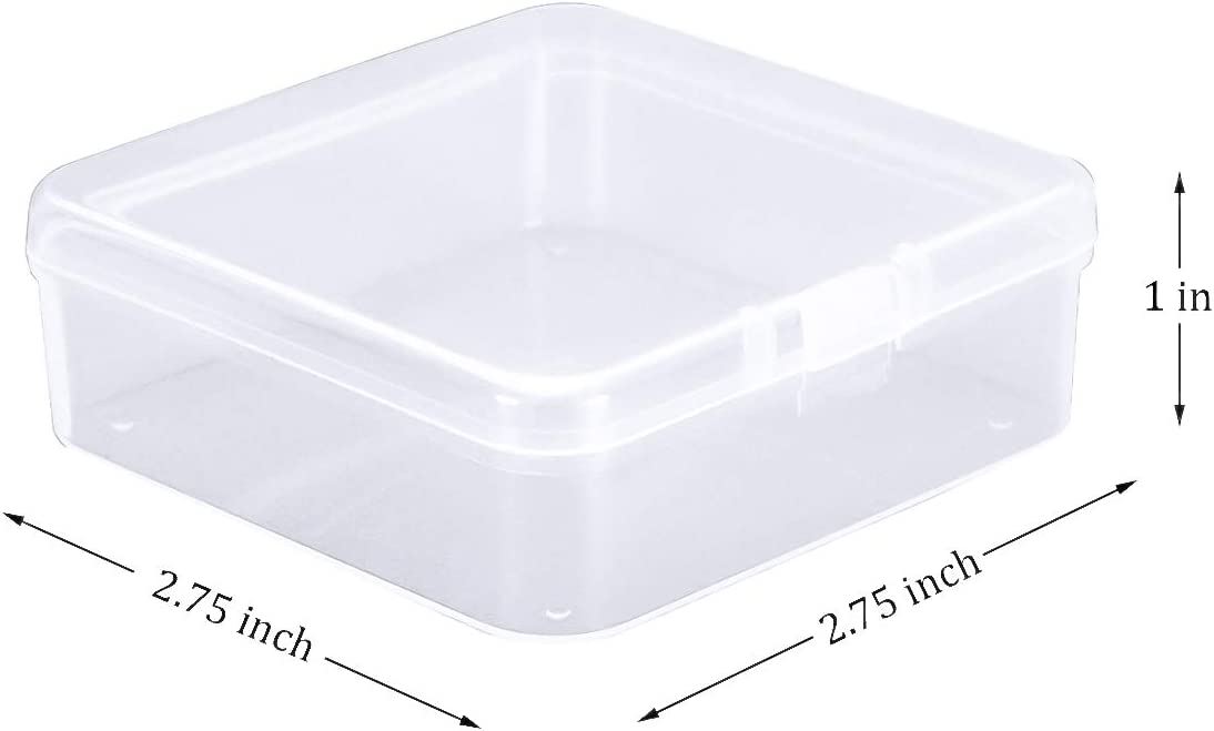 1X Jewelry Storage Box Rectangular Plastic Transparent With Lid Collection 2019