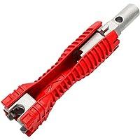 DOITOOL Instalação de torneira e pia 16 8 em 1 chave multiuso, ferramenta de encanamento, instalação de reparo de…