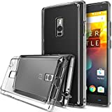 OnePlus 2 Case, Ringke [Fusion] Crystal Clear PC Back TPU Bumper w/ Screen Protector [Drop Protection/Shock Absorption Technology][Attached Dust Cap] For OnePlus Two - Clear