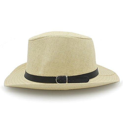 Wkae vaquero diseño mujer cm Sombrero paja café Fashion para de de 58 Beige wfwOq8