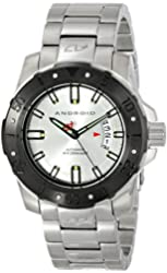 Android Men's AD683BKS Pioneer Analog Display Automatic Self Wind Silver Watch