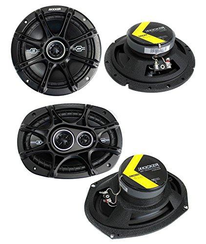 """2) Kicker 41DSC674 6.75"""" 240W 2-Way + 2) 41DSC6934 6x9"""" 360W 3-Way Car Speakers"""