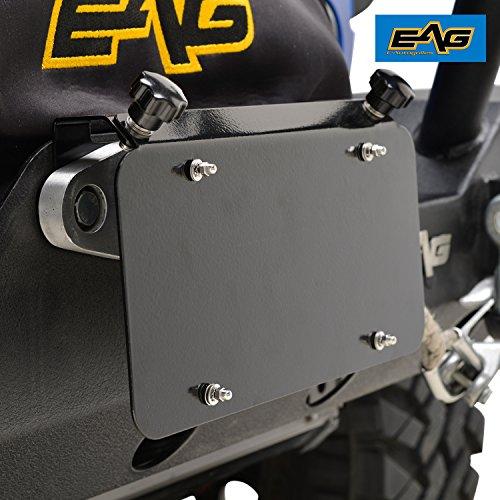 EAG Universal Stainless Steel License Plate Mount for Aluminum Hawse Fairlead