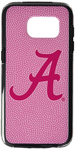 NCAA Alabama Crimson Tide True Grip Football Pebble Grain Feel Samsung Galaxy Alternate S7 Edge Case, Pink