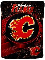 NHL Calgary Flames Ice Dash Micro Raschel Throw, 46\