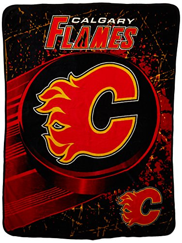 The Northwest Company Officially Licensed NHL Calgary Flames Ice Dash Micro Raschel Throw Blanket, 46