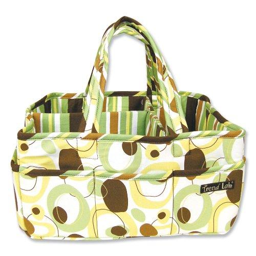 (Trend Lab Gigi Storage Caddy - Nursery Essential and Organizer Green/Brown/Yellow/White )