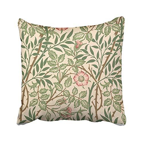 Tsjkwo Sweet Briar Design Wallpaper Printed Joh Accent Cushions Case Throw Pillow Cover Sofa Home Decorative Pillowslip Gift Ideas Household Pillowcase Zippered Pillow Covers ()