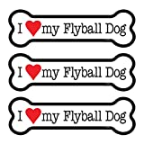 (SJT25518) I (heart) my Flyball Dog 3-PACK of 2