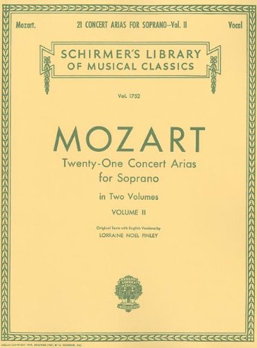 21 Concert Arias for Soprano - Volume II: Voice and Piano