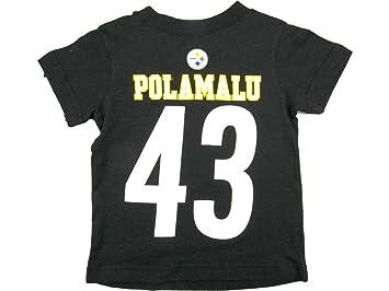Troy Polamalu Pittsburgh Steelers Jersey nombre y número camiseta, Atlético, Negro: Amazon.es: Deportes y aire libre