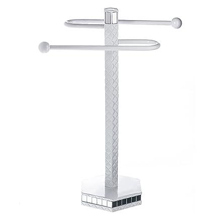 Quilted Mirror Countertop Towel Stand (13.75u201d X 4.4u201d X 14.4u201d) U2013