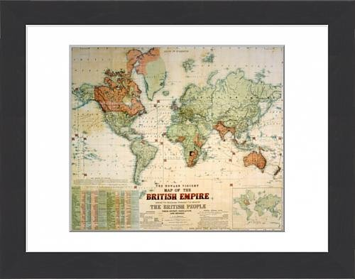 Framed Print of Map of the British Empire Amazoncouk Kitchen
