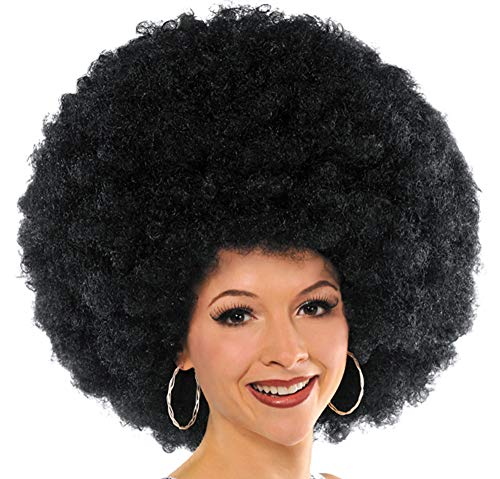 AMSCAN Biggest Afro Ever Wig Halloween Costume Accessories, Black, One -