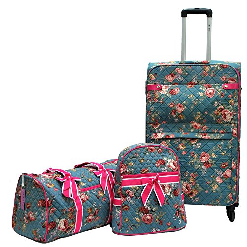 Quilted Luggage Set (