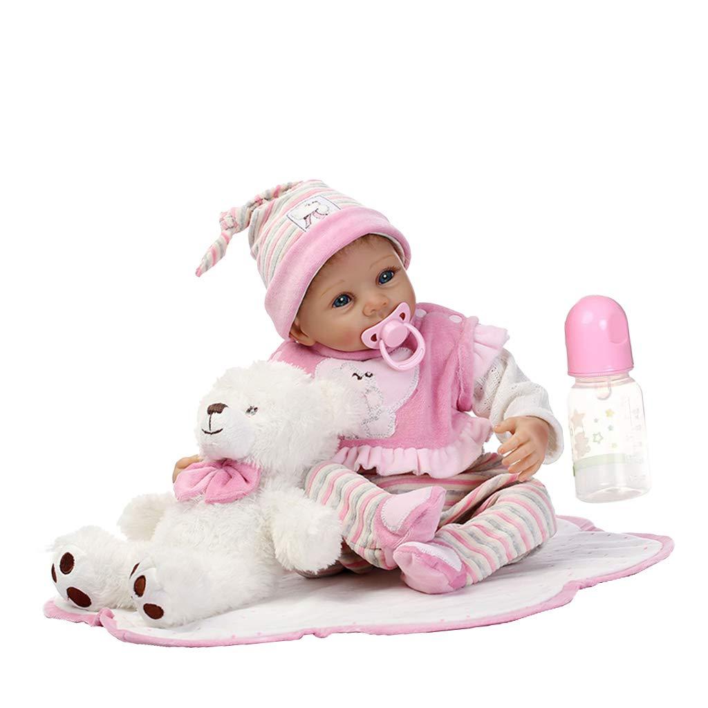 Fenteer 22 Zoll Silikon Neugeborenes Baby Puppen mit Kleidung, Babyflasche, magnetischem Schnuller, Mini-Plüschspielzeug usw. -  5 B07L9MC3WJ Babypuppen Fairer Preis  | Sale Deutschland