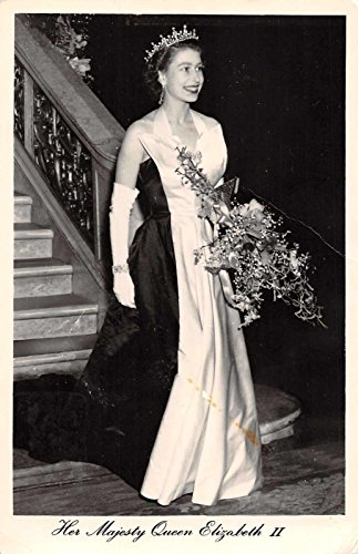 Her Majesty Queen Elizabeth II tiara gown by Tuck Pub real photo pc Y10117 (Queen Mary Tiara)