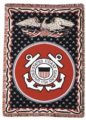 (Simply Home U.S. Coast Guard Triple-Layer Throw Blanket)
