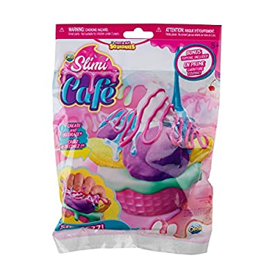 Orb 35772 Slimi Cafe Squishie Banana Split Starter Pack Banana Split Set with Squeezze Pastry Squeeze Toy for Ages 8 and up, Pink/Yellow/Purple: Toys & Games