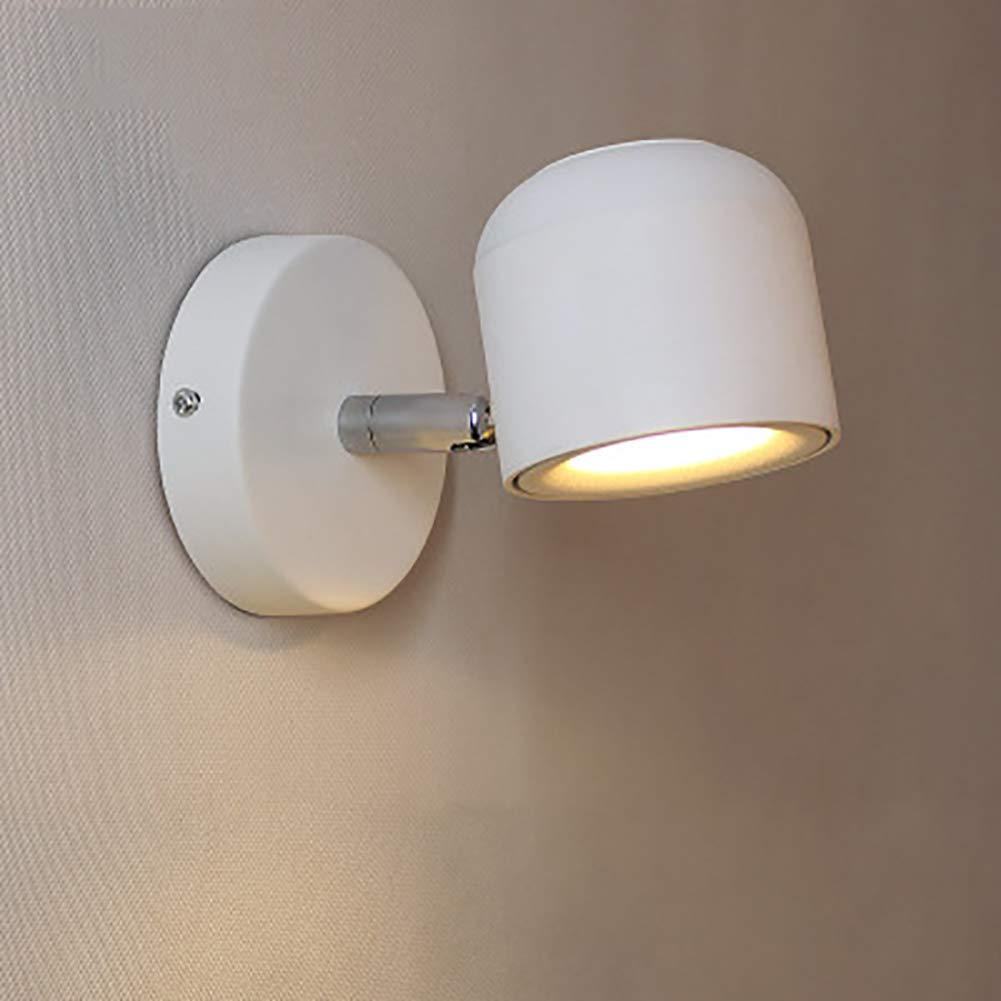 Led Klassischer Wandleuchte Modern Einfach Mit Einstellbar Aluminium Mit Drehbar 340°dekoration Wohnzimmer Schlafzimmer Terrasse Wandleuchten 1-flammig,Weiß