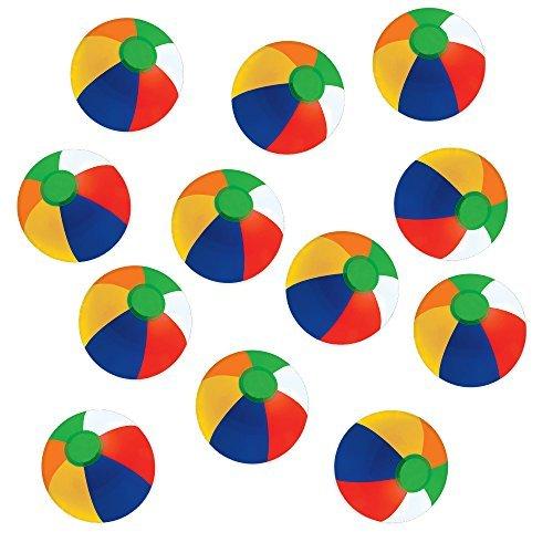 Kangaroo 12 Rainbow Beach Balls (12 Pack); Inflatable 12pc Beach Ball Pool Toys