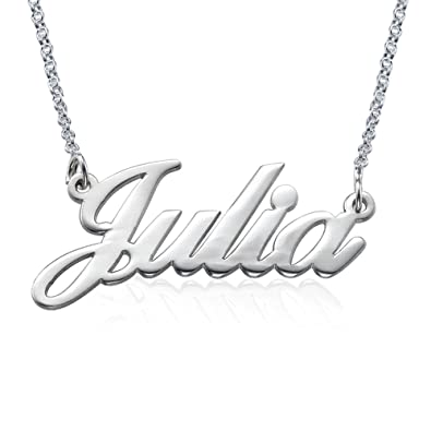 Sterling silver name necklace personalise with any name amazon sterling silver name necklace personalise with any name mozeypictures Image collections