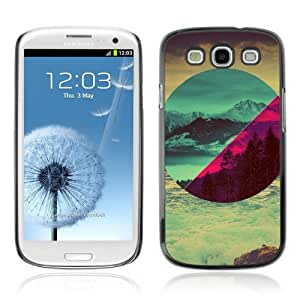 Designer Depo Hard Protection Case for Samsung Galaxy S3 / Different Landscapes Abstact
