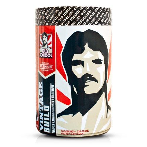 VINTAGE BUILD - The Essential Muscle Builder 3-en-1 - Premium BCAA, monohydrate de créatine, et L-glutamine - frais baies, 330 grammes