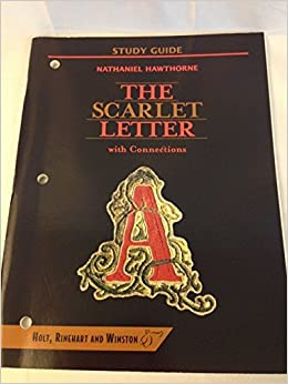 the scarlet letter with connections study guide rinehart winston staff holt 9780030957727 amazoncom books