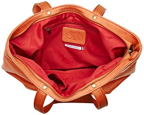 des Cerises Elegance Cognac Orange Le Temps femme Cabas Beige 45qAAEw