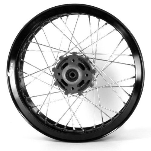 Black Rear Wheel 17x3.00 (Disc Brake), Stud Fixing, Grey Hub (MRW012) CMPO