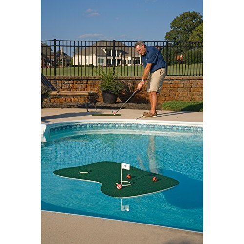 Putt-A-Bout Aqua Golf Floating Putting Mat Green by Putt-A-Bout (Image #1)