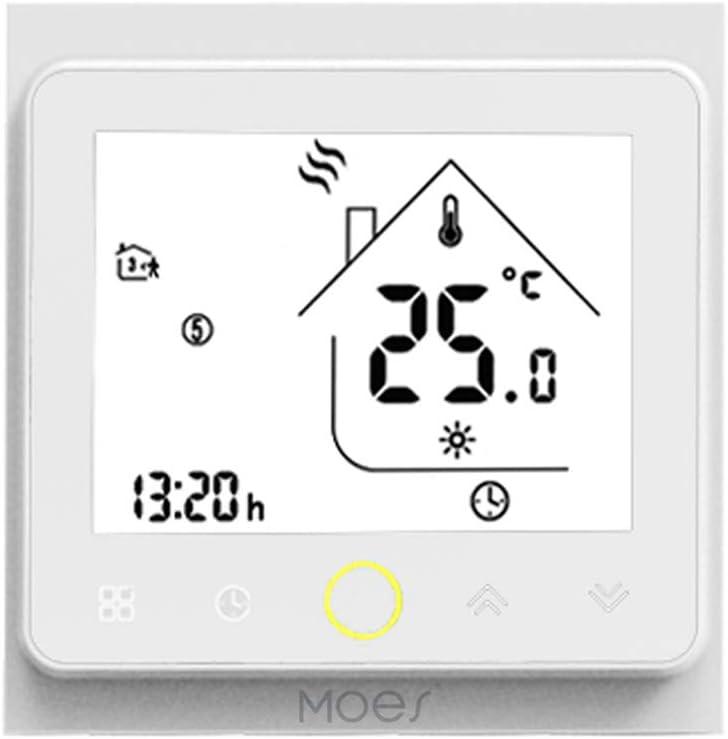 Negro-GC-LW Decdeal Termostato Inteligente con WiFi para calefacci/ón del Agua y con Control por Voz 5 A AC 95 Compatible con  Echo//Google Home//IFTTT 240 V