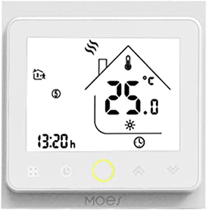 Decdeal Wi-Fi Smart Thermostat Temperature Controller APP Control 5A Compatible with Alexa/Google Home Water Heating for Home