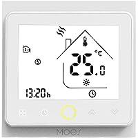 Decdeal Termostato WiFi per Caldaia a Gas/Acqua - Thermostat Intellight Programmabile, Supporto App/Controllo Vocale, Compatibile con Alexa/Google Home, 5A