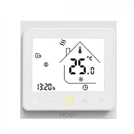 Decdeal - Termostato WiFi para caldera de Gas/Agua - Termostato ...
