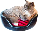 Royal Cat Boutique Hybernest Deluxe Onyx Flame Luxury Cat Bed